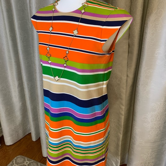 Kate Spade - multi color stretch fabric dress